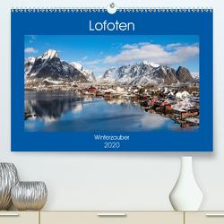 Lofoten – Winterzauber (Premium, hochwertiger DIN A2 Wandkalender 2020, Kunstdruck in Hochglanz) von Rusch,  Winfried