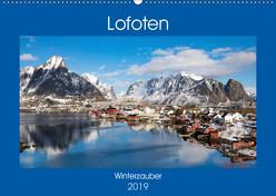 Lofoten – Winterzauber (Wandkalender 2019 DIN A2 quer) von Rusch,  Winfried