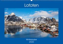 Lofoten – Winterzauber (Wandkalender 2020 DIN A2 quer) von Rusch,  Winfried