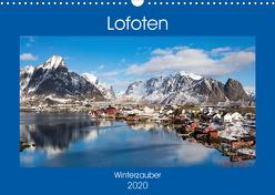 Lofoten – Winterzauber (Wandkalender 2020 DIN A3 quer) von Rusch,  Winfried