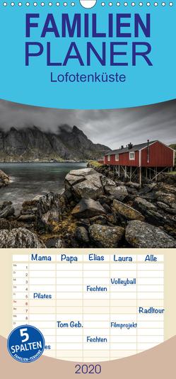 Lofotenküste – Familienplaner hoch (Wandkalender 2020 , 21 cm x 45 cm, hoch) von Worm,  Sebastian