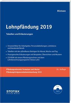 Lohnpfändung 2019 von Hintzen,  Udo