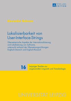 Lokalisierbarkeit von User-Interface-Strings von Behrens,  Alexander