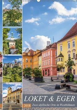 LOKET UND EGER Zwei idyllische Orte in Westböhmen (Wandkalender 2018 DIN A2 hoch) von Viola,  Melanie