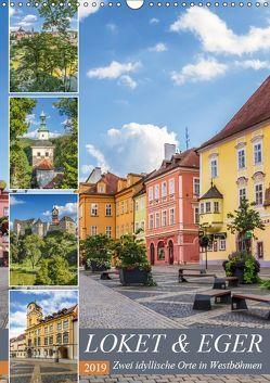 LOKET UND EGER Zwei idyllische Orte in Westböhmen (Wandkalender 2019 DIN A3 hoch) von Viola,  Melanie