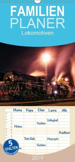 Lokomotiven 2019 – Familienplaner hoch (Wandkalender 2019 <strong>21 cm x 45 cm</strong> hoch) von Dzurjanik,  Martin