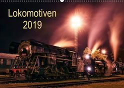 Lokomotiven 2019 (Wandkalender 2019 DIN A2 quer) von Dzurjanik,  Martin