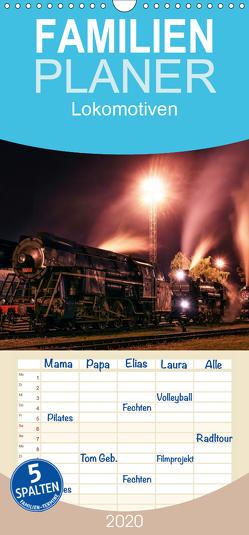 Lokomotiven 2020 – Familienplaner hoch (Wandkalender 2020 , 21 cm x 45 cm, hoch) von Dzurjanik,  Martin