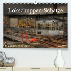 Lokschuppen-Schätze (Premium, hochwertiger DIN A2 Wandkalender 2021, Kunstdruck in Hochglanz) von Elskamp-D.Elskamp Photography,  Danny