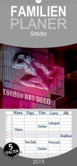 London ART DECO – Familienplaner hoch (Wandkalender 2019 , 21 cm x 45 cm, hoch) von Robert,  Boris