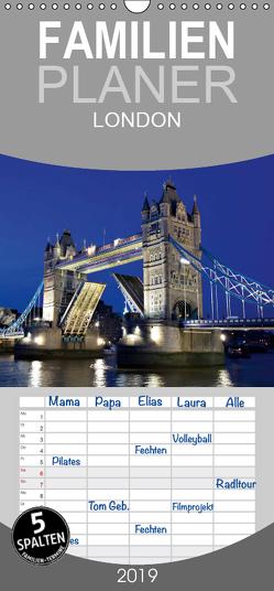 LONDON – Familienplaner hoch (Wandkalender 2019 , 21 cm x 45 cm, hoch) von Schonnop,  Juergen
