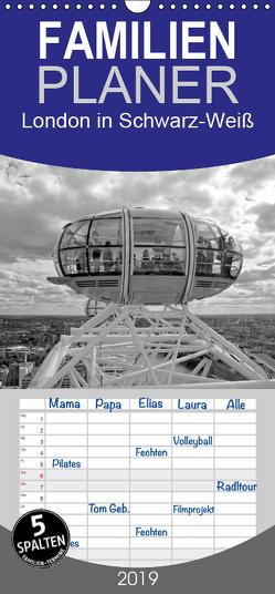 London in Schwarz-Weiß – Familienplaner hoch (Wandkalender 2019 , 21 cm x 45 cm, hoch) von Brehm - frankolor.de,  Frank