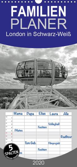 London in Schwarz-Weiß – Familienplaner hoch (Wandkalender 2020 , 21 cm x 45 cm, hoch) von Brehm - frankolor.de,  Frank