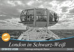 London in Schwarz-Weiß (Wandkalender 2019 DIN A2 quer) von Brehm - frankolor.de,  Frank