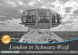London in Schwarz-Weiß (Wandkalender 2019 DIN A3 quer) von Brehm - frankolor.de,  Frank