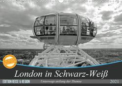 London in Schwarz-Weiß (Wandkalender 2021 DIN A3 quer) von Brehm - frankolor.de,  Frank