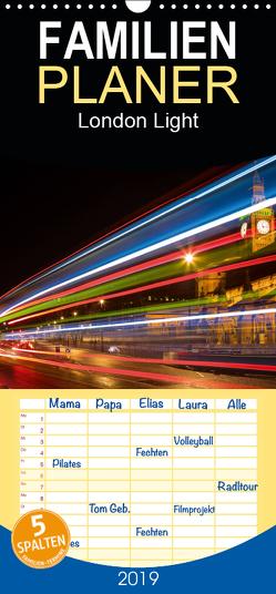 London Light – Familienplaner hoch (Wandkalender 2019 , 21 cm x 45 cm, hoch) von Meutzner,  Dirk