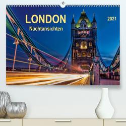 London – Nachtansichten (Premium, hochwertiger DIN A2 Wandkalender 2021, Kunstdruck in Hochglanz) von Roder,  Peter