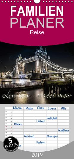 London – street view – Familienplaner hoch (Wandkalender 2019 , 21 cm x 45 cm, hoch) von Schöb,  Monika, www.yourpagemaker.de, YOUR pageMaker,  ©