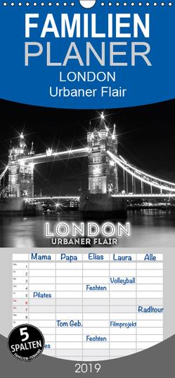 LONDON Urbaner Flair – Familienplaner hoch (Wandkalender 2019 , 21 cm x 45 cm, hoch) von Viola,  Melanie