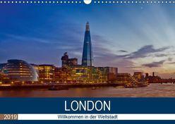 LONDON Willkommen in der Weltstadt (Wandkalender 2019 DIN A3 quer) von Viola,  Melanie