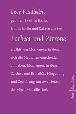 Lorbeer und Zitrone von Pernthaler,  Lissy