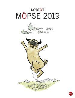 Loriot Möpse – Kalender 2019 von Heye, Loriot