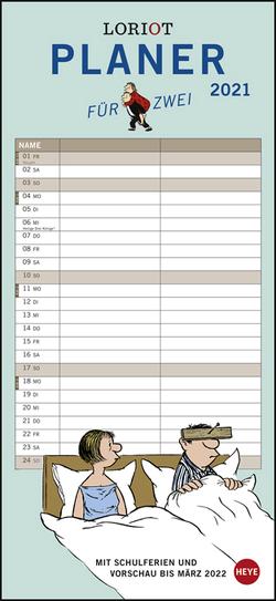Loriot Planer für zwei Kalender 2021 von Heye, Loriot