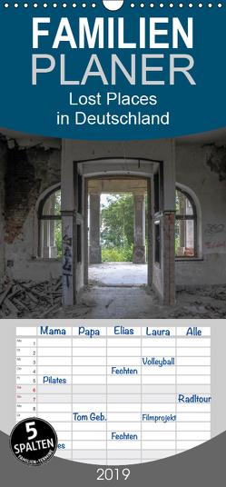 Lost Places in Deutschland – Familienplaner hoch (Wandkalender 2019 , 21 cm x 45 cm, hoch) von Schultes,  Michael
