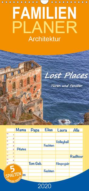 Lost Places – Türen und Fenster – Familienplaner hoch (Wandkalender 2020 , 21 cm x 45 cm, hoch) von Hackstein,  Bettina
