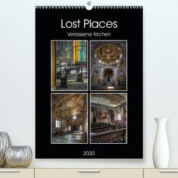 Lost Places – Verlassene Kirchen (Premium, hochwertiger DIN A2 Wandkalender 2020, Kunstdruck in Hochglanz) von Buchspies,  Carina