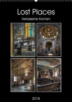 Lost Places – Verlassene Kirchen (Wandkalender 2018 DIN A2 hoch) von Buchspies,  Carina