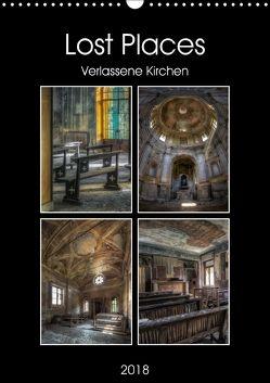 Lost Places – Verlassene Kirchen (Wandkalender 2018 DIN A3 hoch) von Buchspies,  Carina