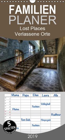 Lost Places – Verlassene Orte – Familienplaner hoch (Wandkalender 2019 , 21 cm x 45 cm, hoch) von Buchspies,  Carina
