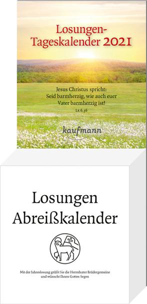 Losungen-Tageskalender 2021 von Brüdergemeine,  Herrnhuter