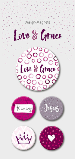 Love & Grace – 5-er-Magnet-Set