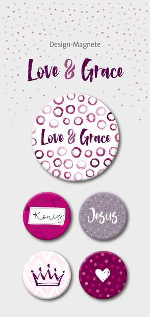 Love & Grace – 5-er-Magnet-Set