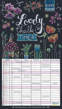 Lovely Chalk Timer 2019 von Büdinger,  Mo, Korsch Verlag
