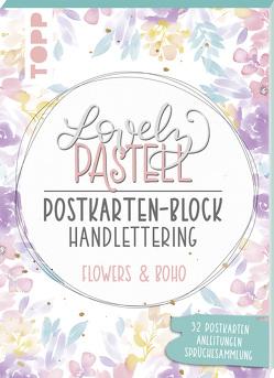 Lovely Pastell Handlettering Postkartenblock Flowers & Boho von Stapff,  Christin