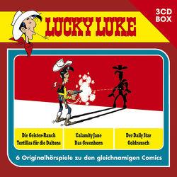 Lucky Luke – 3CD Hörspielbox Vol. 1 von Ester,  Alexander, Fauche,  Xavier, Goscinny,  René, Guylouis,  Claude, Léturgie,  Jean