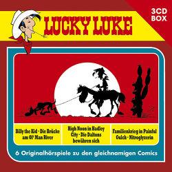 Lucky Luke – 3CD Hörspielbox Vol. 2 von Ester,  Alexander, Fauche,  Xavier, Goscinny,  René, Léturgie,  Jean