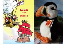 Luddi und Karlo – Bilderbuch kombiniert mit Plüschtier Papageitaucher von Capezzone,  Thierry, Jákupsson,  Niclas Heri, Thurner,  Volker