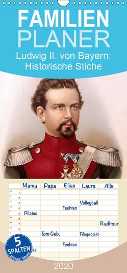 Ludwig II. von Bayern: Historische Illustrationen und Stiche – Familienplaner hoch (Wandkalender 2020 , 21 cm x 45 cm, hoch) von CALVENDO