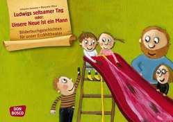 Ludwigs seltsamer Tag oder: Unsere Neue ist ein Mann. Kamishibai Bildkartenset. von Janssen,  Johanne, Olten,  Manuela