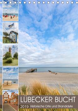 LÜBECKER BUCHT Historische Orte und Strandidylle (Tischkalender 2019 DIN A5 hoch) von Viola,  Melanie