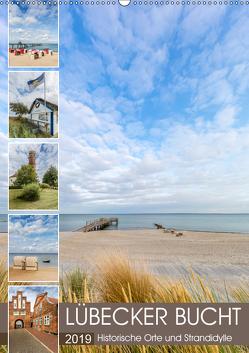LÜBECKER BUCHT Historische Orte und Strandidylle (Wandkalender 2019 DIN A2 hoch) von Viola,  Melanie
