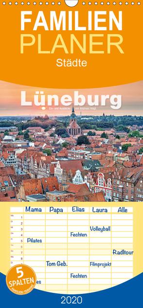 LÜNEBURG Ein- und Ausblicke von Andreas Voigt – Familienplaner hoch (Wandkalender 2020 , 21 cm x 45 cm, hoch) von Voigt,  Andreas