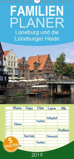 Lüneburg und die Lüneburger Heide – Familienplaner hoch (Wandkalender 2019 , 21 cm x 45 cm, hoch) von Reupert,  Lothar