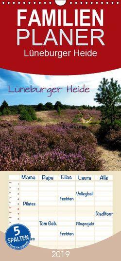 Lüneburger Heide – Familienplaner hoch (Wandkalender 2019 , 21 cm x 45 cm, hoch) von Pompsch,  Heinz