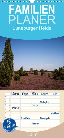 Lüneburger Heide – Familienplaner hoch (Wandkalender 2019 , 21 cm x 45 cm, hoch) von Dobrindt,  Jeanette